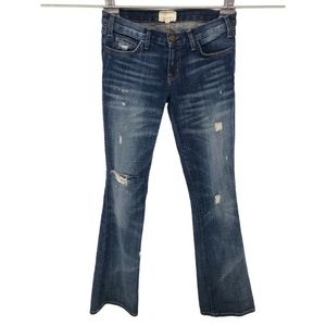 Current Elliott Womens The Cowboy Bootcut Jeans 25